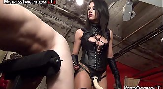 Female dom strapon pegging from Mistress Tangent