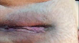 Humid Pussy Orgasm Closeup With Contractions