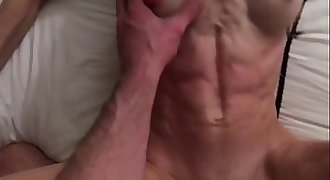 French muscle girl like feel the cum on her