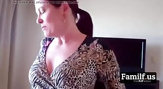 Mature Mom Gives Son a Blowjob In the Morning! - FREE Mom Videos at Familf.us