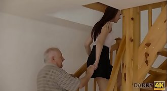 DADDY4K. Omelia had unexpected sex with dad of her bf